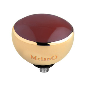 MelanO Twisted Resin Setting Edelstaal Goud Bordeaux
