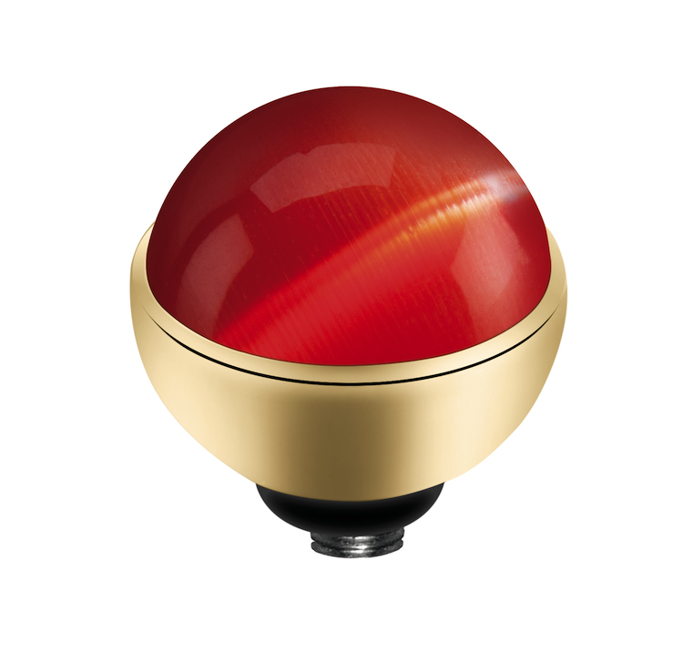 MelanO Twisted Cateye Setting Edelstaal Goud Red