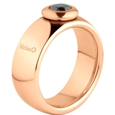 MelanO Vivid Ring Vicky 8mm Edelstaal Rose Goud