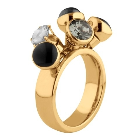 MelanO Twisted Ring Tess Edelstaal Goud