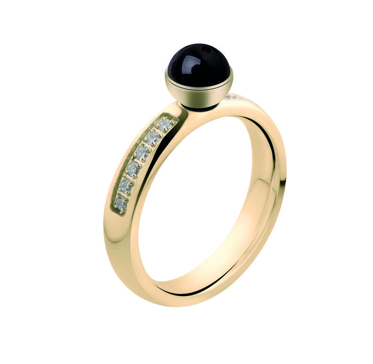 MelanO Twisted Tracey CZ Ring Edelstaal Goud