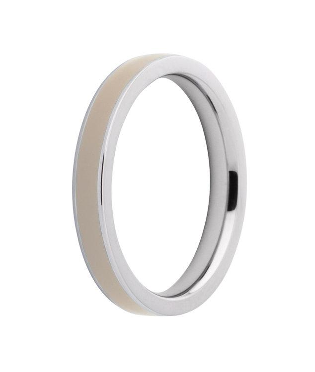 Melano Friends Ring Gwyneth Limited Edition Edelstaal Resin Sahara Beige