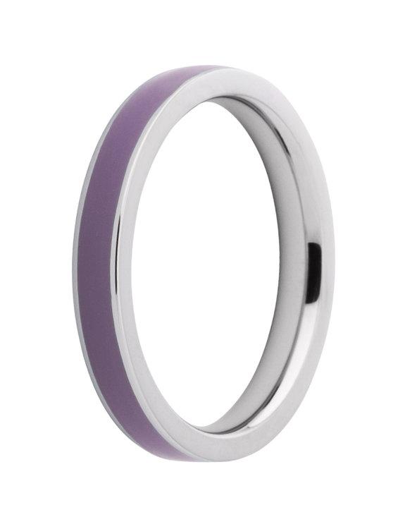 Melano Friends Ring Gwyneth Limited Edition Edelstaal Resin Bodacious Purple