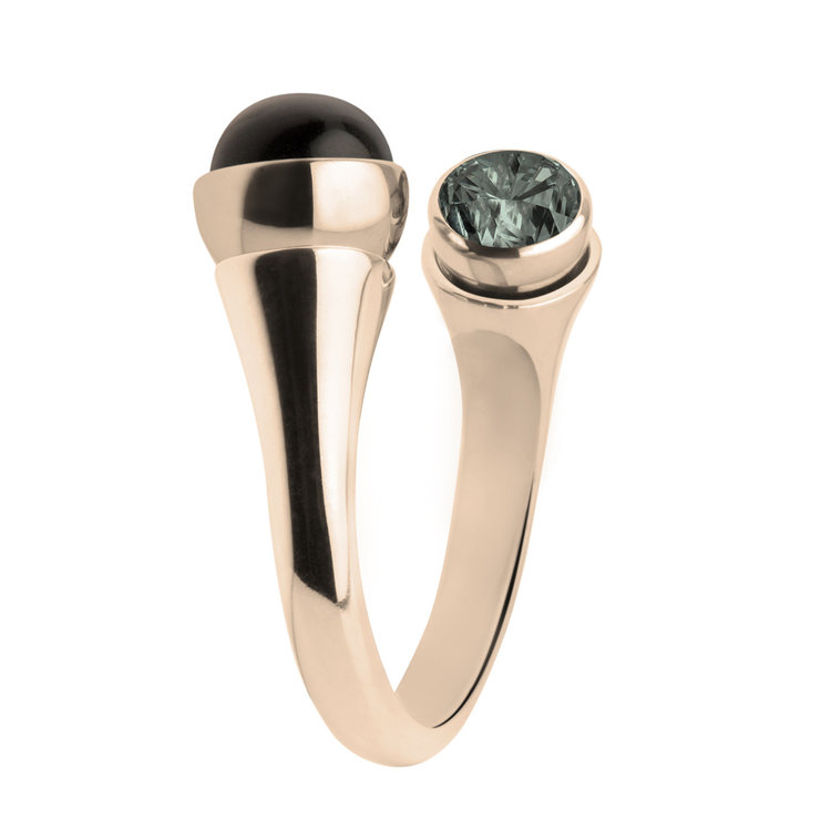 Melano Twisted Tulip Ring Edelstaal Rose Goudkleurig