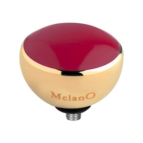 Melano Twisted Resin Meddy Edelstaal Goudkleurig Rubin Red