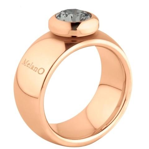 Melano Vivid Ring Vicky 10mm Edelstaal Rose Goudkleurig