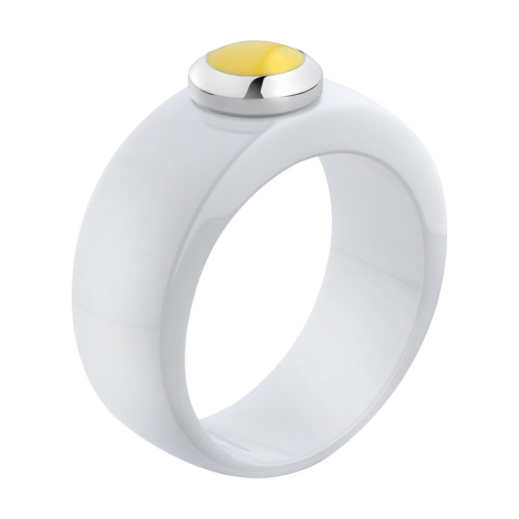 Melano Vivid Ring Keramisch Wit 8mm