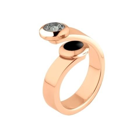 Melano Vivid Ring Violet Edelstaal Rose Goudkleurig 6mm breed