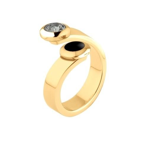 Melano Vivid Ring Violet Edelstaal Goudkleurig 6mm breed
