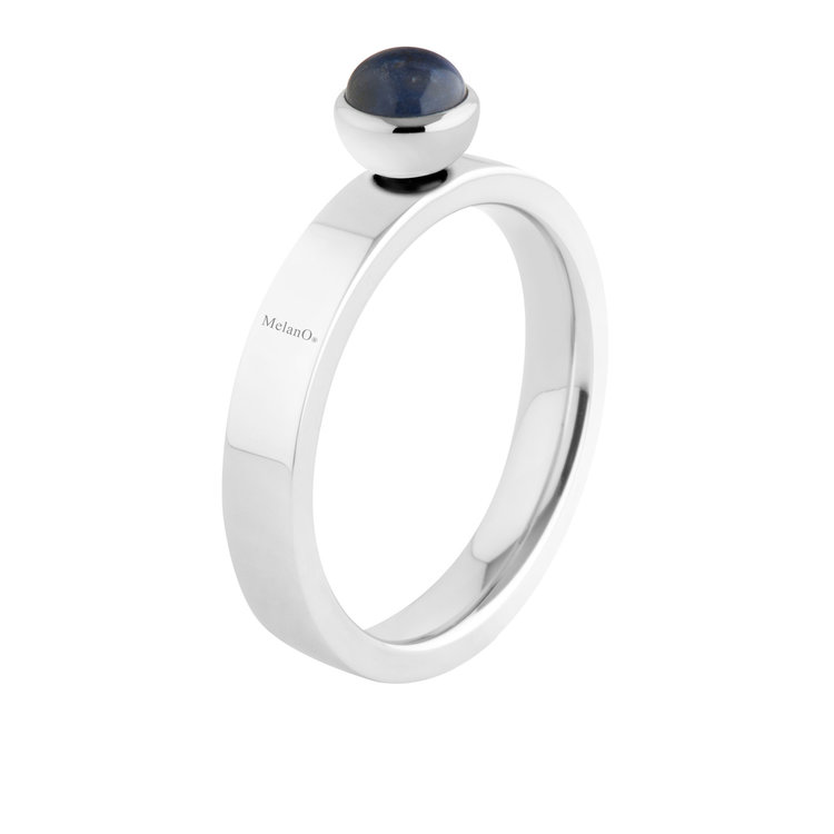 Melano Twisted Edelstaal Ring Zilverkleurig Tatum