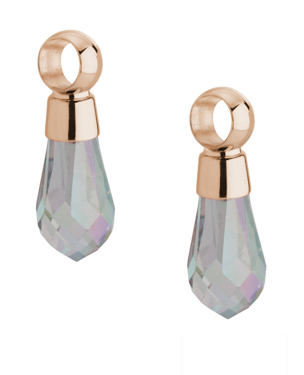 Melano Angelina Earring Pendants Stainless Steel Rose Gold-coloured Swarovski Crystal Parsh incl Creolen.