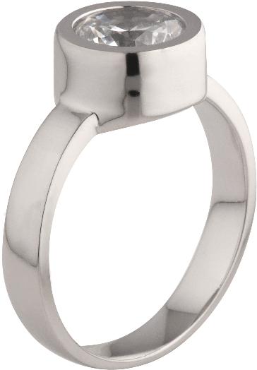 MelanO The One Zilveren Ring inclusief Brilliant Zirkonia Steen Crystal