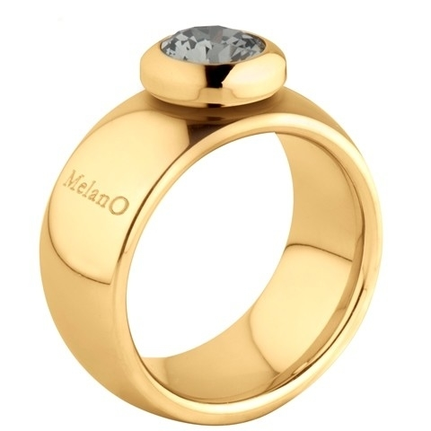 Melano Vivid Ring Vicky 10mm Edelstaal Goudkleurig