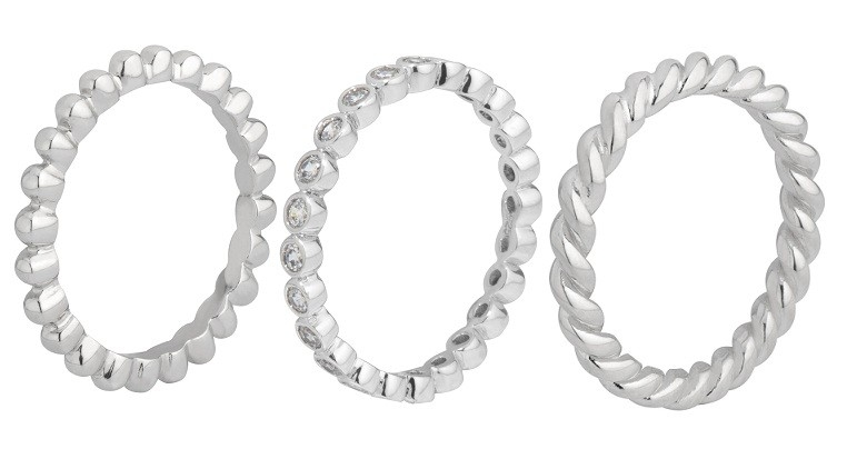 MelanO Zilveren Ringen Set 2,5mm