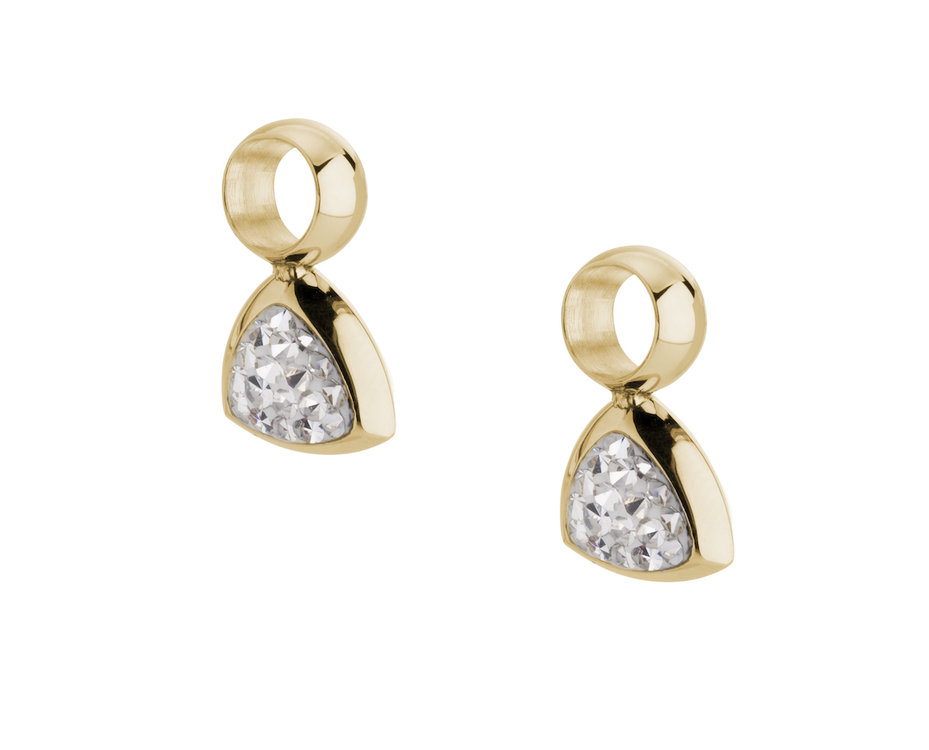 Melano Kim Oorbelhangers Edelstaal Goudkleurig Zirkonia Crystal