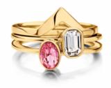 Melano Friends Ring Rose Goudkleurig Pointed Zirkonia Crystal_