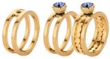 Melano Twisted Ring Trista Edelstaal Goudkleurig_