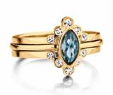 Melano Friends Ring Zilverkleurig Pointed Zirkonia Crystal_