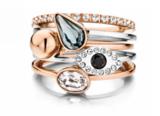Melano Twisted Ring Zilverkleurig Petit 1mm_
