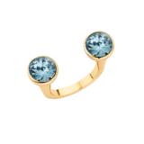 Melano Twisted Open Ring Goudkleurig_