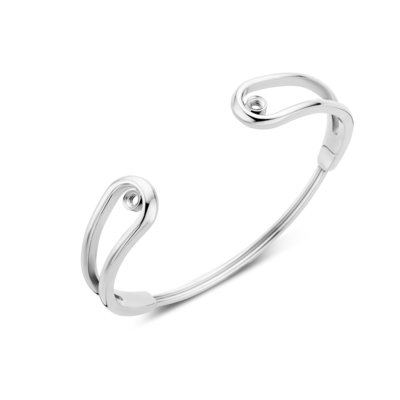 Melano Twisted Double Loop Armband Zilverkleurig