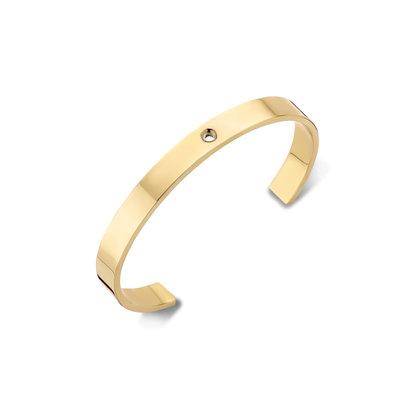 Melano Twisted Wide Armband Goudkleurig