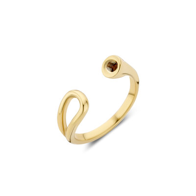 Melano Twisted Open Loop Ring Goudkleurig