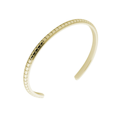 Melano Friends Side Bangle Jessica Edelstaal Goudkleurig Engraved