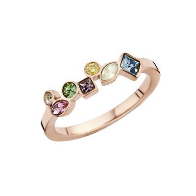 Melano Friends Ring Rose Goud Kleurig Mosaic Hue