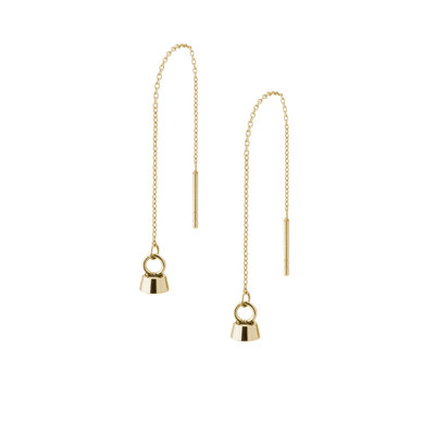 Melano Twisted Tinca Earrings Stainless Steel Gold-coloured