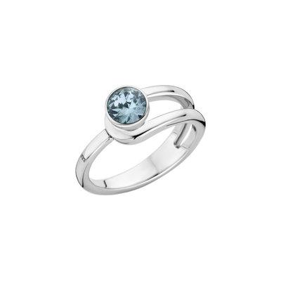 Melano Twisted Ring Taheera Edelstaal Zilverkleurig