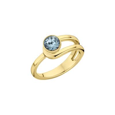 Melano Twisted Ring Taheera Edelstaal Goudkleurig