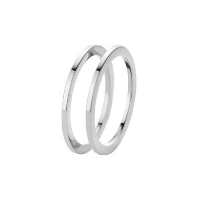 Melano Friends Ringen Sade Stainless Steel Silver-coloured 2 rings