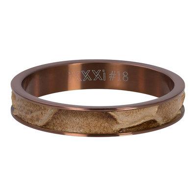 iXXXi Ring 4mm Crocodile Brown