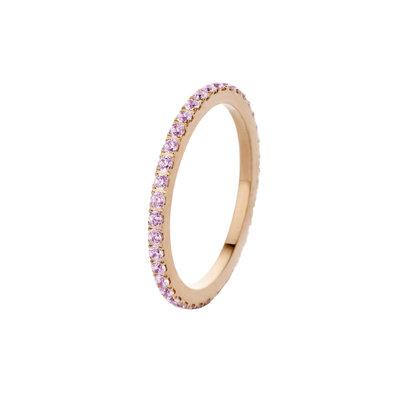 Melano Friends Ring Sade Rose Gold-coloured Zirkonia Blossom