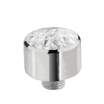 Melano Sturdy Meddy Multi Zirkonia Edelstaal Zilverkleurig 8mm