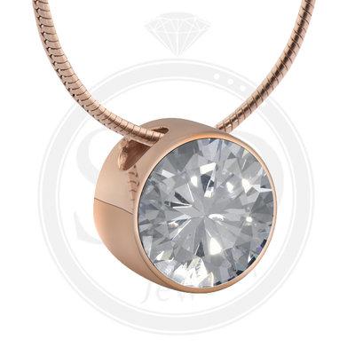Melano Rose Goudkleurig Zirkonia Hanger Crystal