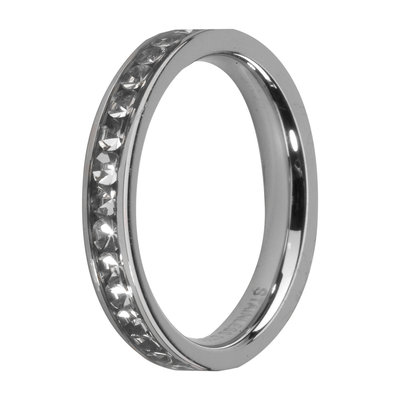 Melano Friends Side Ring, Zirkonia Stones Crystal