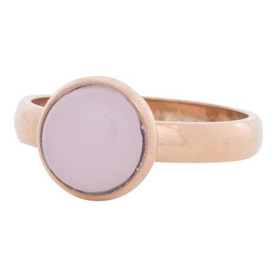 iXXXi Ring 4mm Edelstaal Rose Goudkleurig 12mm Cateye Pink