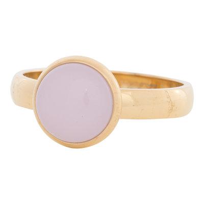 iXXXi Ring 4mm Edelstaal Goudkleurig 12mm Cateye Pink