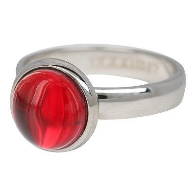 iXXXi Ring 4mm Edelstaal Zilverkleurig Valentijn Rood