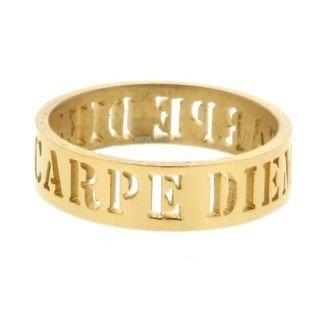 iXXXi Ring 6mm Goudkleurig Open Carpe Diem