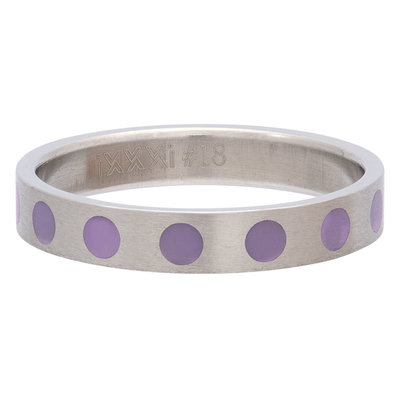 iXXXi Ring 4mm Edelstaal Round Purple