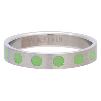 iXXXi Ring 4mm Edelstaal Round Green
