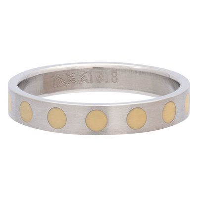 iXXXi Ring 4mm Edelstaal Round Yellow