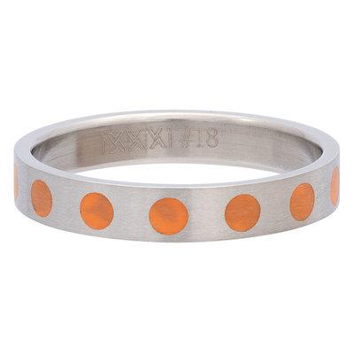 iXXXi Ring 4mm Edelstaal Round Orange