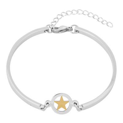 iXXXi Edelstaal Spang armband Ster Goudkleurig 17cm - 20cm