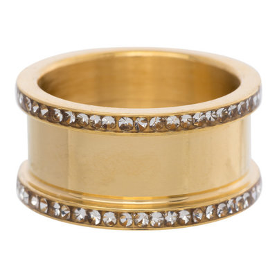 iXXXi Basis Ring 6-10mm Zirkonia Edelstaal Goudkleurig
