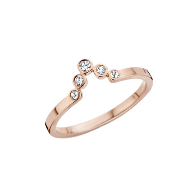 Melano Friends Ring Rose Goudkleurig Pointed Zirkonia Crystal