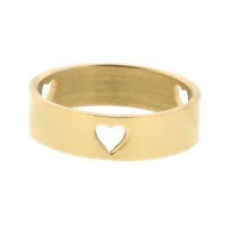 iXXXi Ring 6mm Goudkleurig 3 Open Hearts
